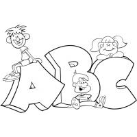 A b c coloring pages