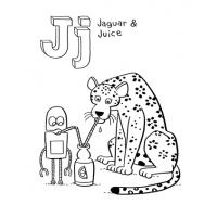 Letter J coloring pages