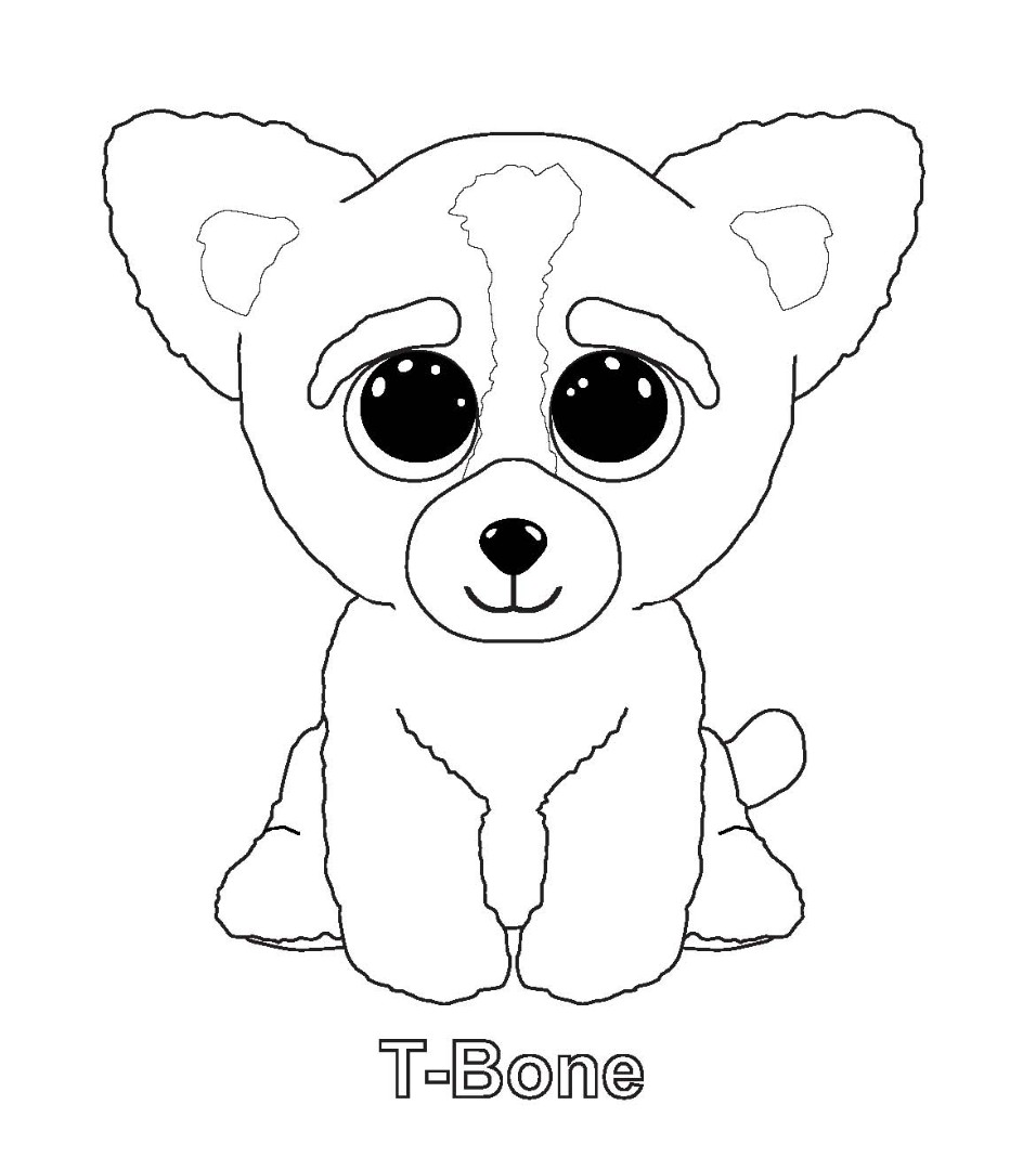 ty big eye coloring pages | Printable ty beanie boo coloring pages for preschoolers