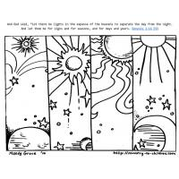 Day and night coloring pages