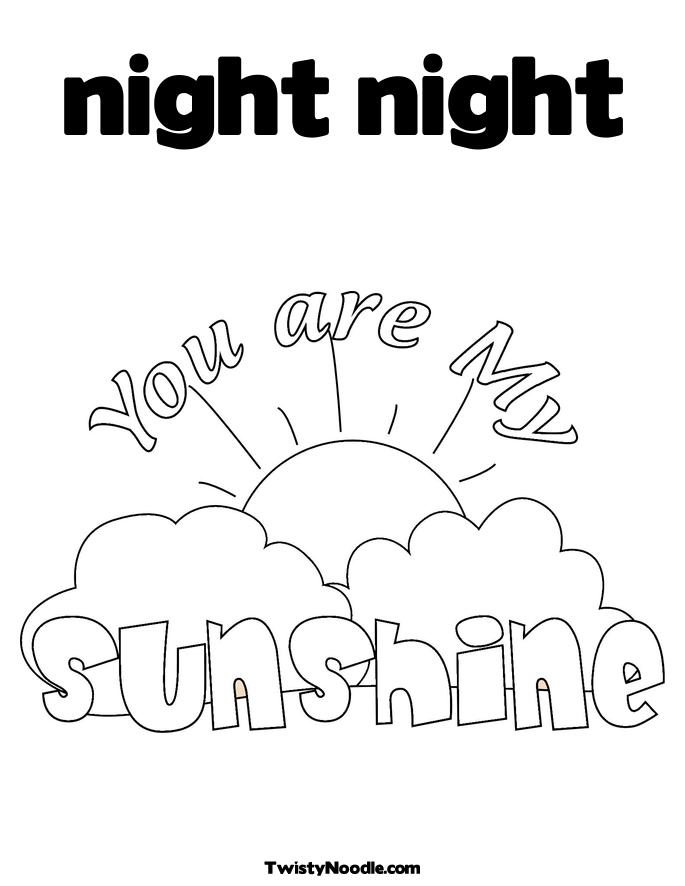 Printable Day And Night Coloring Pages For Preschoolers