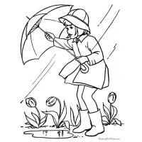 Rainy day coloring pages