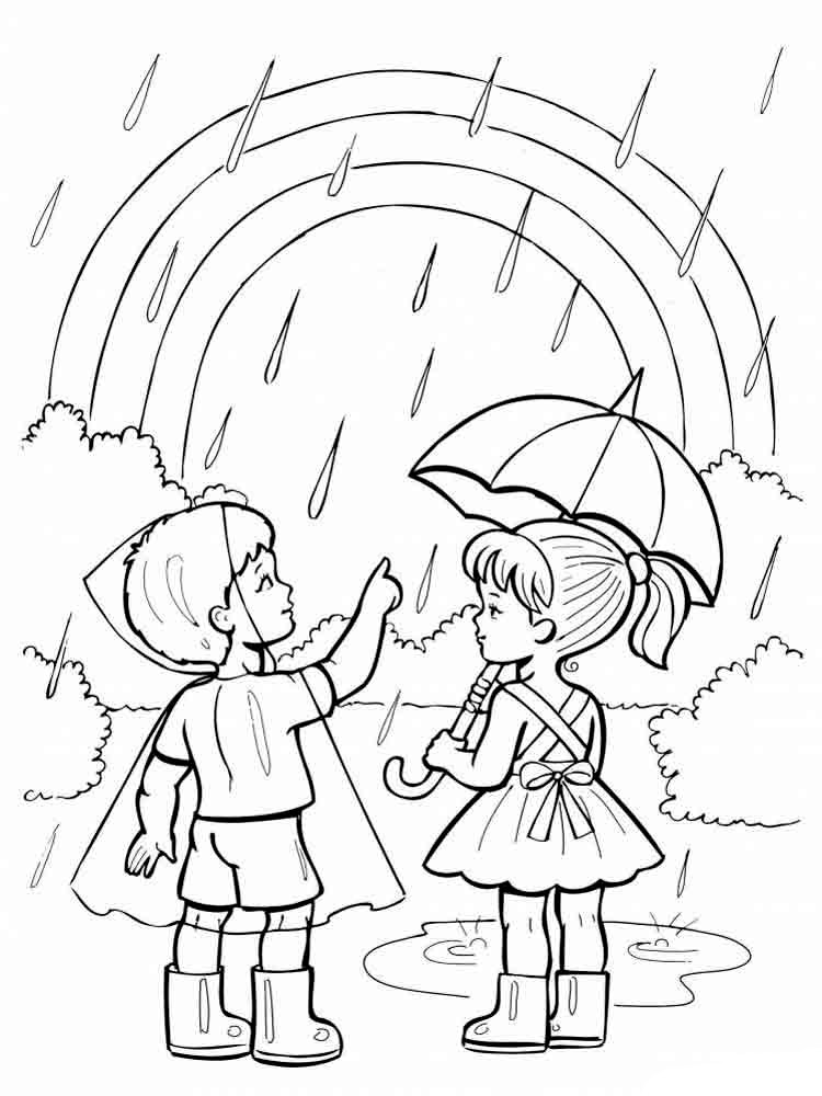 Rainbow Coloring Pages For Childrens Printable Free
