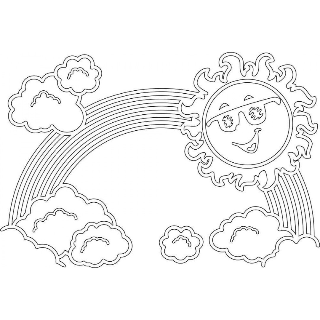 Sweet image for rainbow coloring sheet printable
