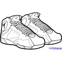 Shoe coloring pages