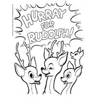 Rudolph reindeer coloring pages