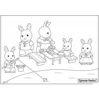 Calico Critters Coloring Pages