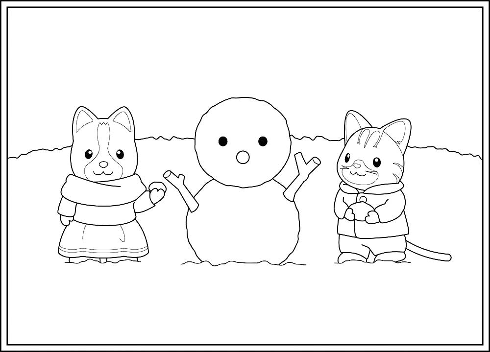 Calico Critters Coloring Pages To Download And Print For Free