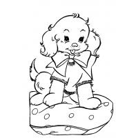 Dogs and puppies coloring pages
