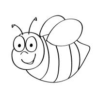 Bee coloring pages