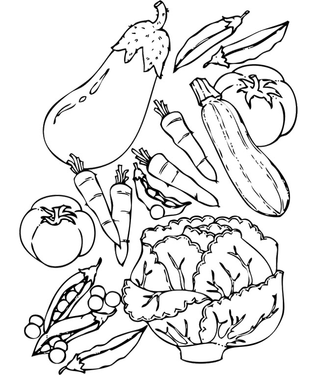 Vegetable Coloring Pages For Childrens Printable Free