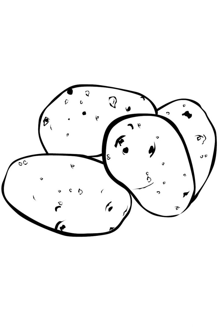 Potatoes coloring pages to download and print for free