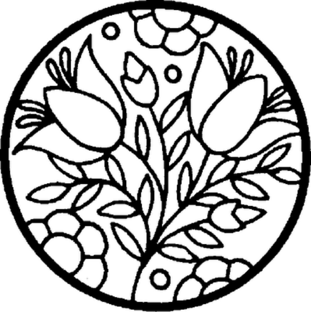 flower coloring pages to download and print for free