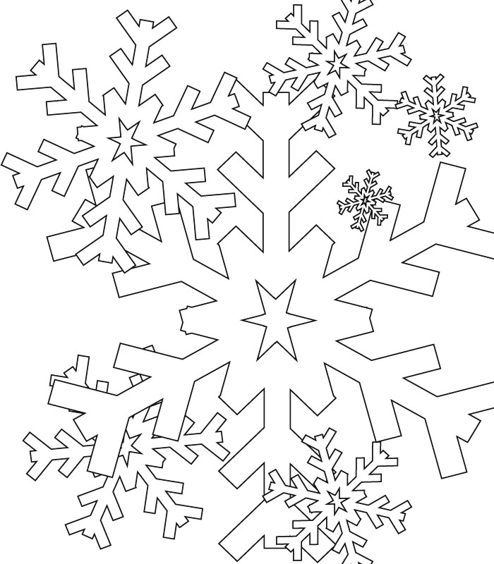 Snowflake coloring pages to download and print for free