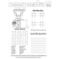 Easter maze coloring pages