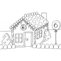 Gingerbread house coloring pages