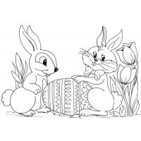 Easter and spring coloring pages