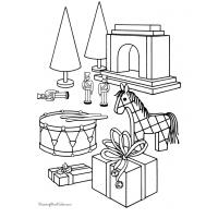 Christmas toys coloring pages