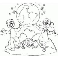 Kindergarten earth day coloring pages