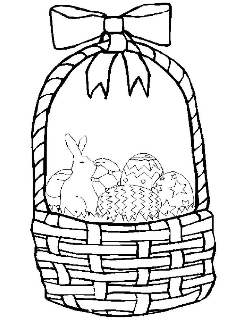 Easter basket coloring pages to download and print for free