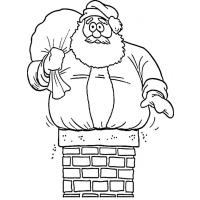Christmas chimneys coloring pages