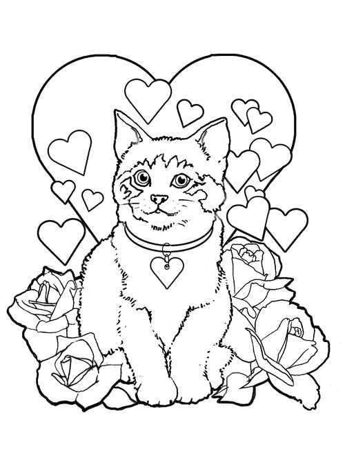coloring pages valentines day 543 free printable valentines day