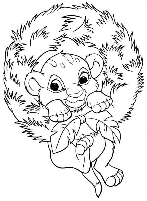 Coloring Pages For Christmas Disney to download and print for free