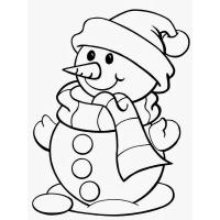 Coloring Pages Snowman