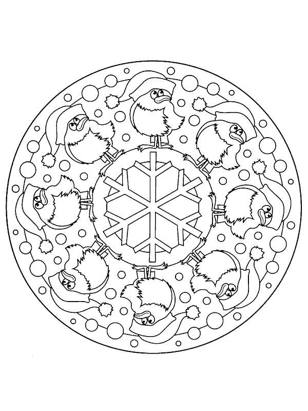 Christmas Mandala Coloring Pages to download and print for free